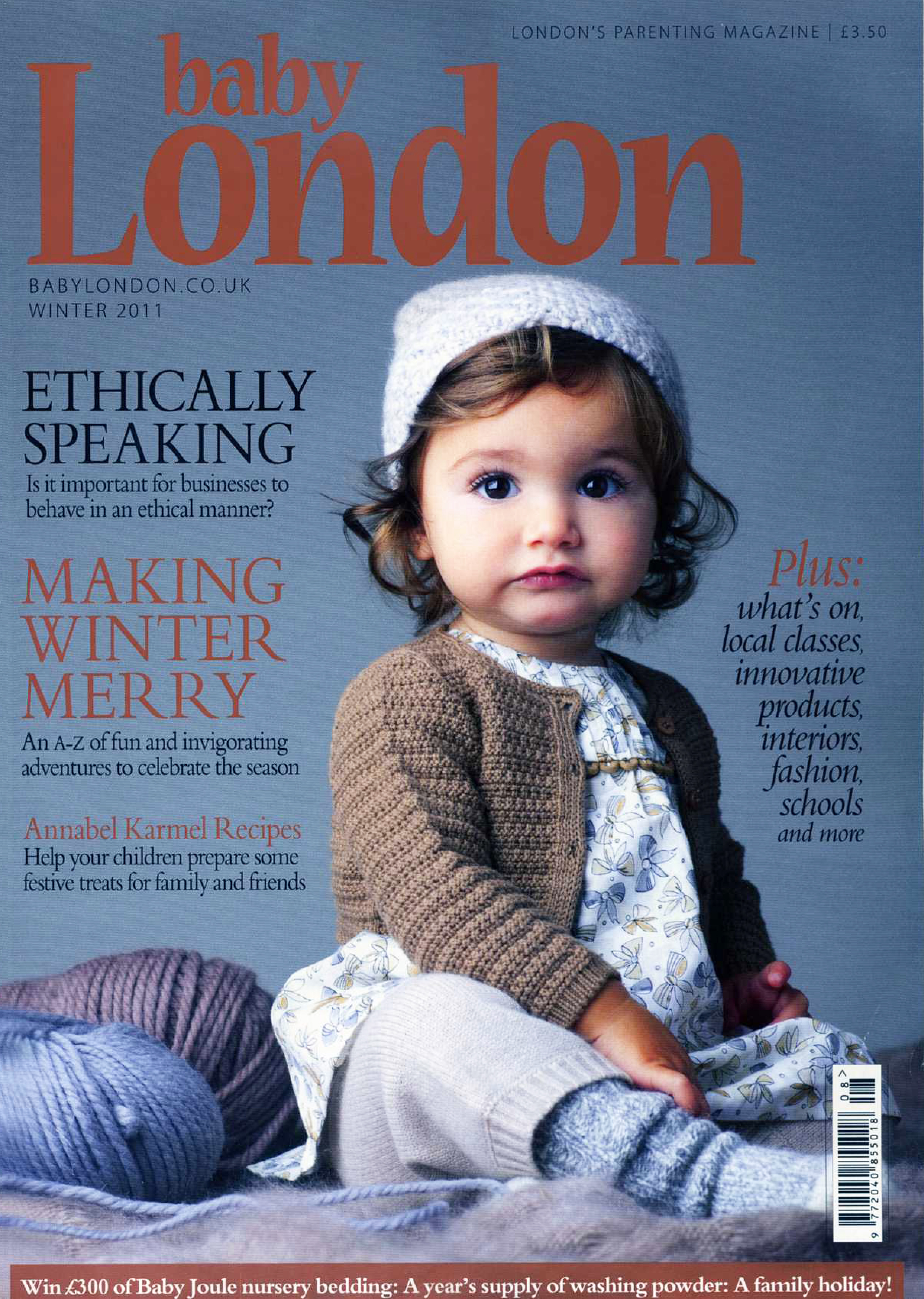 Baby London Magazine. Lucas was also spotted on the front cover of the